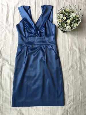 *Wunderschönes VILA Satin Cocktailkleid*, Farbe Moonlight Blue