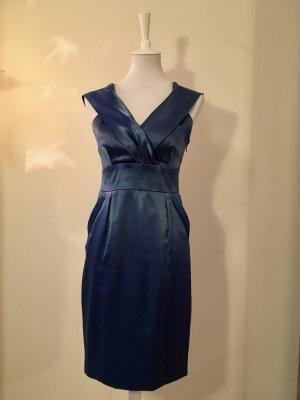 Wunderschönes VILA Satin Kleid, Moonlight Blue (36)