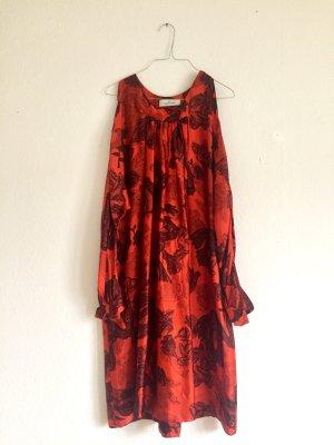 Wunderschönes vintage Kleid aus Seide mit bedrucktem Muster