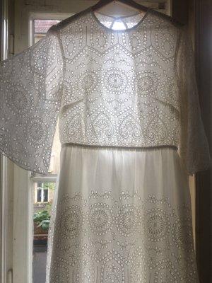 beclaimed vintage Lace Dress white viscose