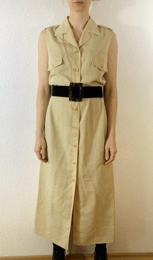 Vintage Vestido tipo blusón beige claro-crema