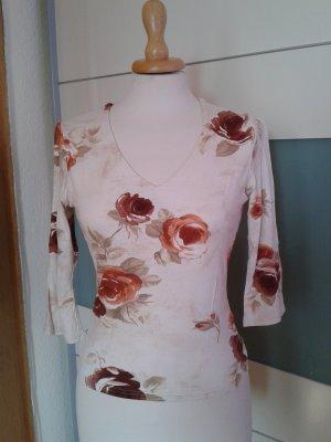Wunderschönes weiches Shirt mit Rosen und halblangem Arm