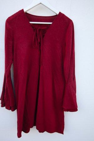 Wunderschönes weinrotes Kleid mit Schlaufen Größe S Abendkleid Ausgehkleid Sommerkleid