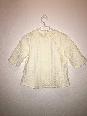 Wunderschönes weiß/beiges Baumwollshirt