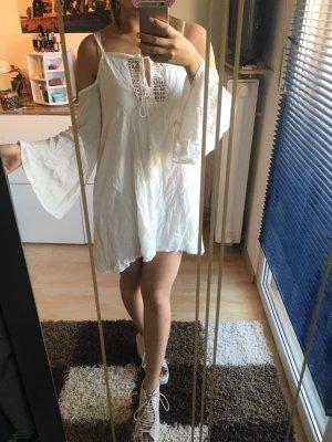 Wunderschönes weißes Kleid 34 schulterfrei