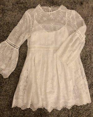 Wunderschönes Zara Kleid aus Mesh mit Unterkleid