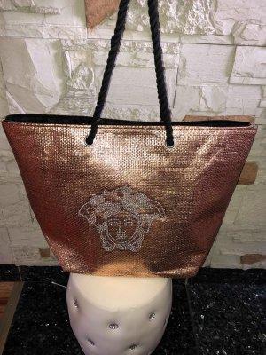 Borsa shopper oro-rosa Fibra sintetica