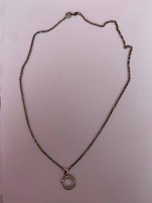 Wundervolle 925 Silber geschwungene kette mit zirkonia Anhänger
