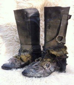 Buffalo Jackboots multicolored leather