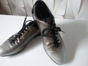 Prada Lace-Up Sneaker light grey-dark grey leather