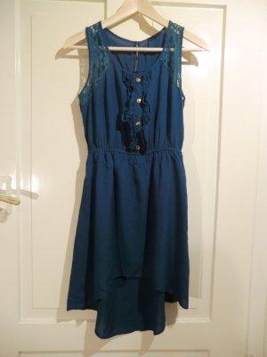 Wundervolles petrolfarbenes Kleid von mine, Größe 36