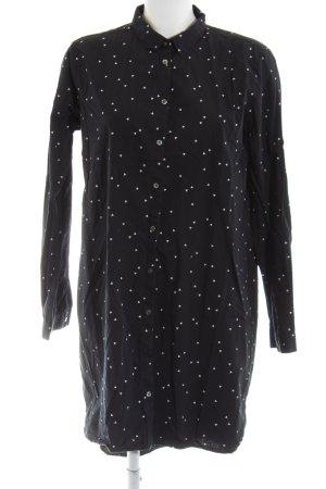 Wunderwerk Abito blusa camicia nero-bianco stampa integrale stile casual