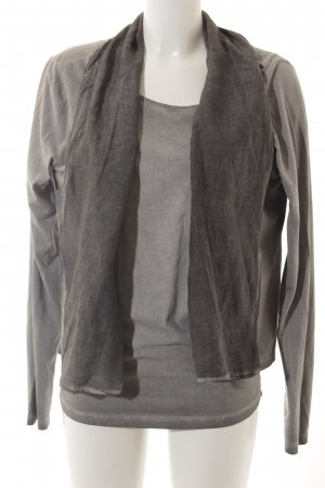 Wunderwerk Jersey Twin Set grau Casual-Look
