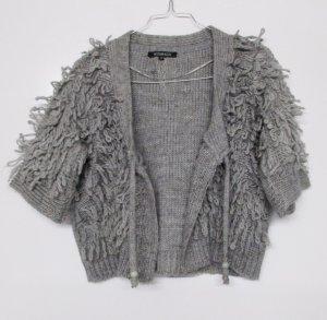 Wissmach Coarse Knitted Jacket light grey-grey mixture fibre