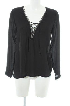 WYLDR Langarm-Bluse schwarz Elegant