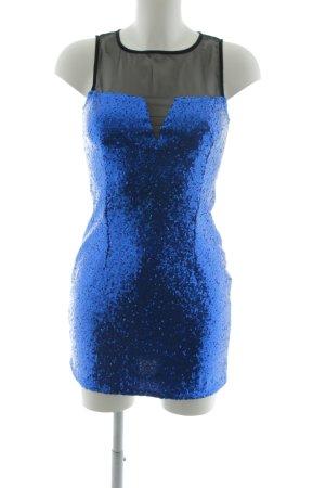 WYLDR Abito con paillettes nero-blu con glitter