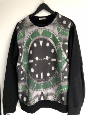 X-CAPE Sweatshirt mit Uhrenaufdruck