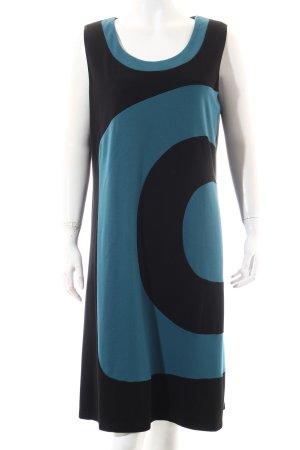 x-two A-Linien Kleid schwarz-petrol Casual-Look