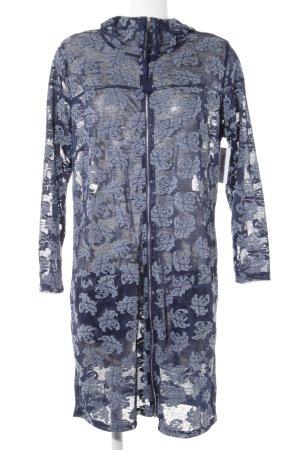 x-two Vestido con capucha gris pizarra-azul estampado floral look casual