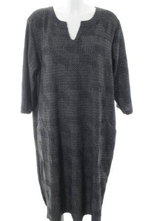 x-two Robe à manches longues gris-noir élégant