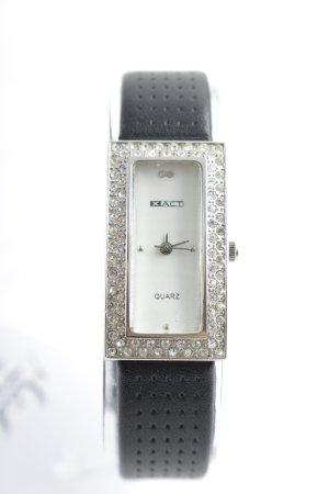 """XACT Horloge met lederen riempje """"Stainless Steel"""""""
