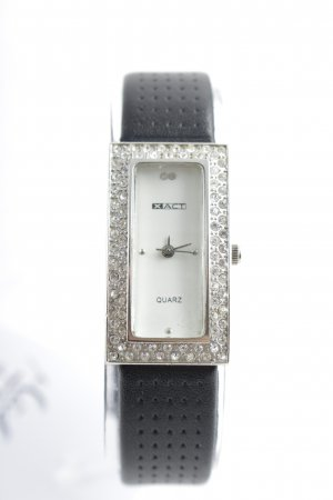 "XACT Reloj con pulsera de cuero ""Stainless Steel"""