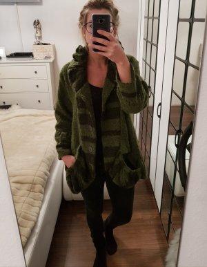 Xadoo Oversized Jacket olive green-khaki