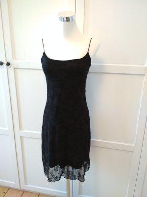 Xanaka Kleid Gr. 34 Minikleid schwarz Trägerkleid Spitzenkleid Organzakleid