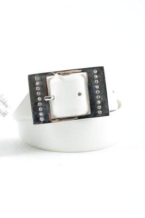 Xanaka Lederimitatgürtel silberfarben Glitzer-Optik