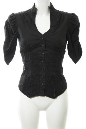 Xanaka Blusa in merletto nero stile stravagante