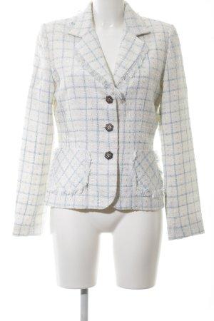 Xanaka Tweed Blazer natural white-blue check pattern business style