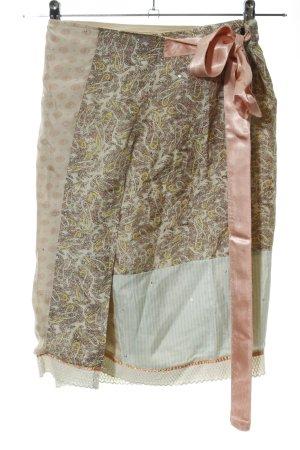 Xdye Wraparound Skirt abstract pattern elegant