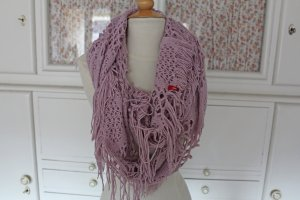 XL Fransen-Loop von Esprit in Rosé, Strickloop
