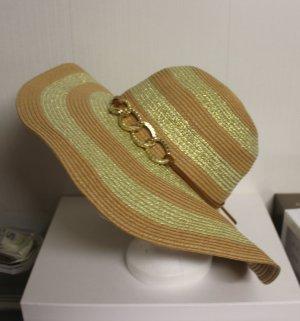 XL Hut mit gold Kette Detail Band