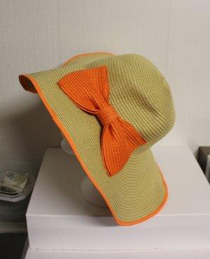XL Hut mit orangener Schleife