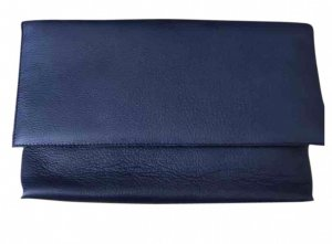 Alberto Fermani Clutch blue leather