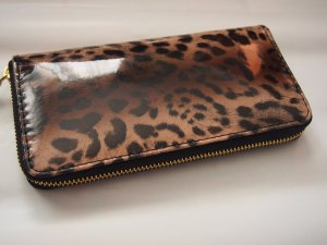 XL Portemonnaie Geldbörse Leo Leopard Animal Print Rockabilly NEU