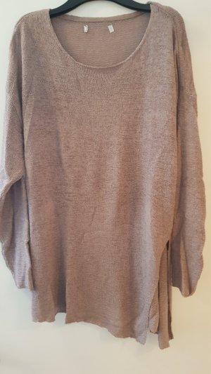 Amisu Long Sweater grey lilac-mauve