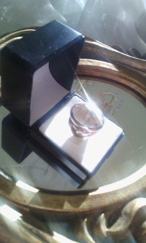 %%% XL Ring mit facettiertem strahlendem Bergkristall 925er Silber