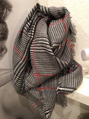XL Schal grau karriert