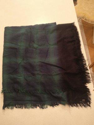 XL Schal * grün blau kariert * super warm und kuschelig