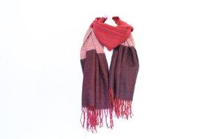 XL Schal in versch. Rottönen Poncho mit breiten Streifen
