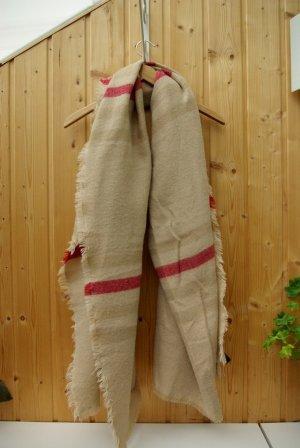 XL Schal nude beige gestreift von Zara