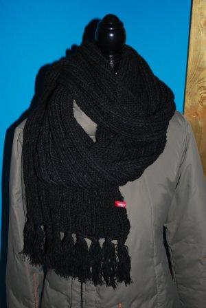 XL Schal * schwarz * Esprit * gehäkelt * Neu