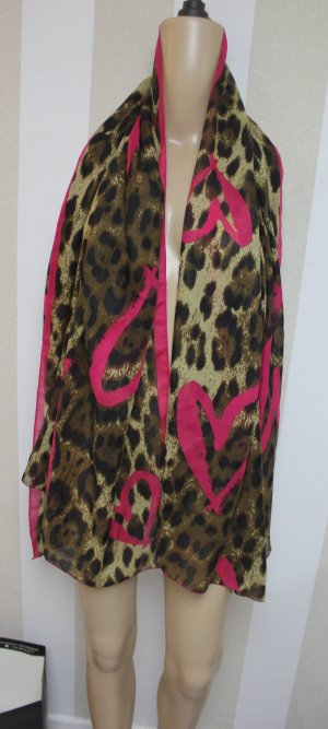 XL Schal Tuch leopard animal design
