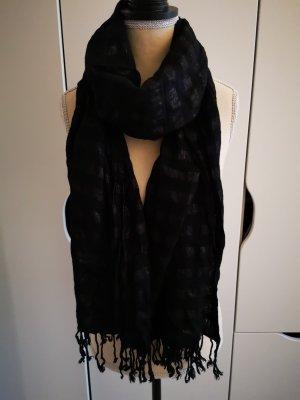 XL Schal Tuch von H&M schwarz