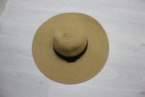 Sombrero negro-marrón arena