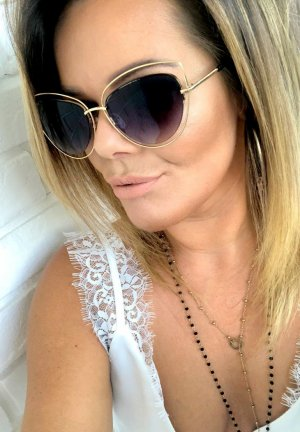 Ovale zonnebril veelkleurig