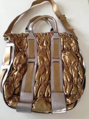 XL-Tasche von Mango MNG in Gold/Silber