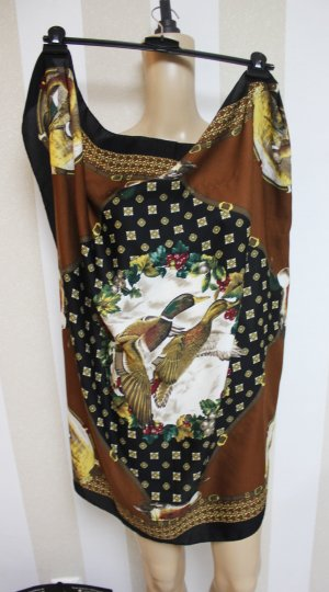 XL Tuch mit Motiv Design Enten Vintage
